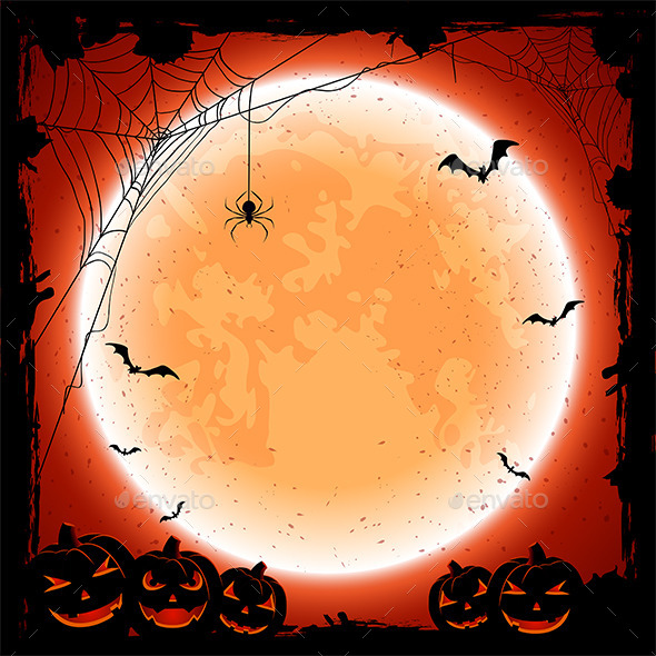 Halloween Background with Moon