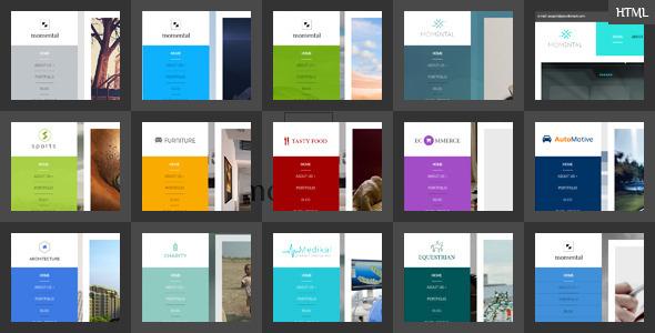 Vertical Menu Html Website Templates From Themeforest