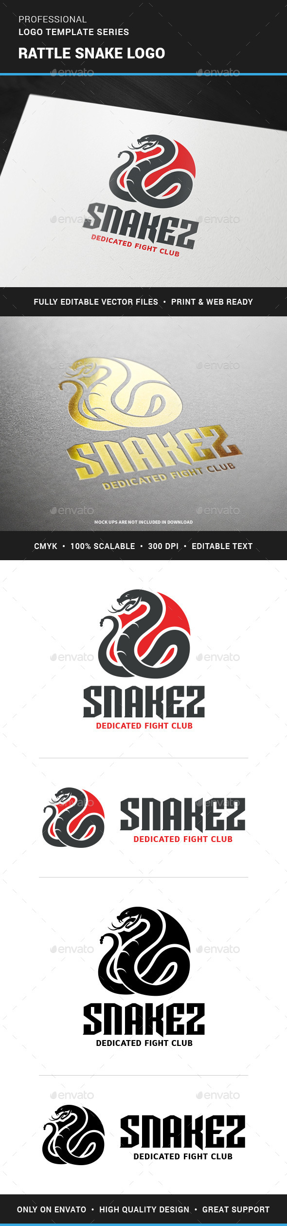 Rattle Snake Logo Template