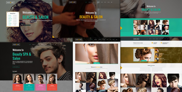 Hair Care - Responsive Salon  WordPress Theme