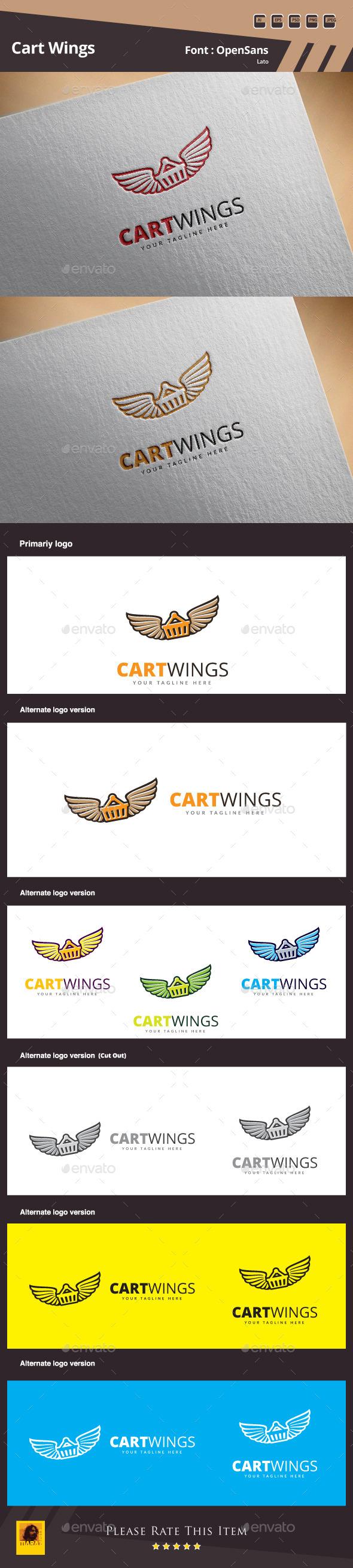 Cart Wings Logo Template