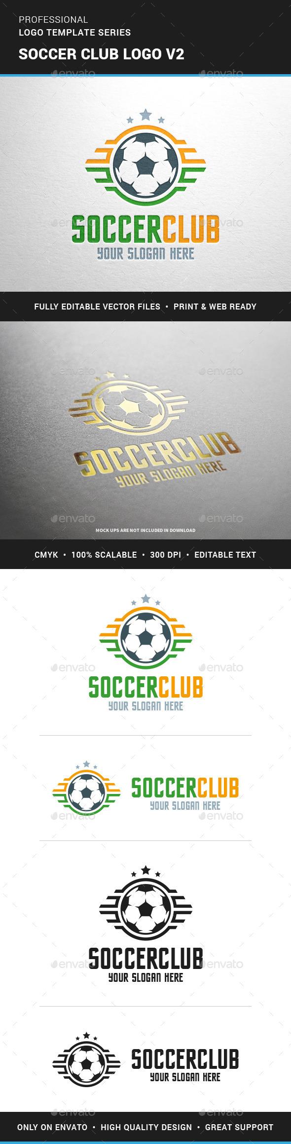 Soccer Club Logo Template v2