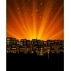 Night City with Sunset - GraphicRiver Item for Sale