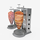 Turning Grilled Meat Kebab - 3DOcean Item for Sale