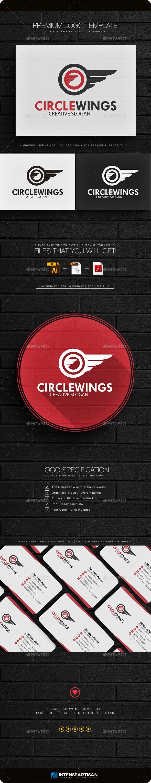 Circle Wings Logo Template