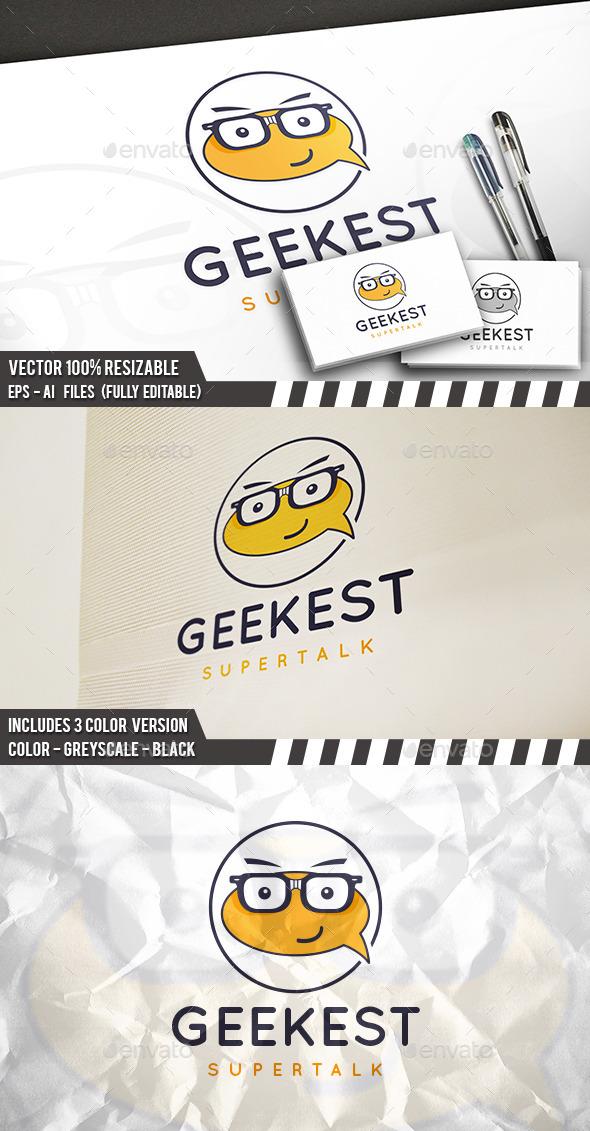 Geek Talk Logo Template