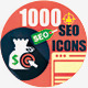 1000 SEO Icons-Mega Pack  - GraphicRiver Item for Sale