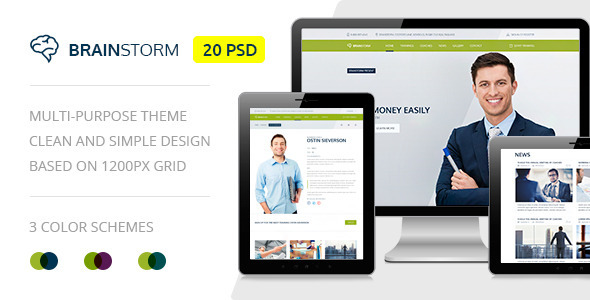 BrainStorm — Multipurpose Event, Training, Workshop PSD Template