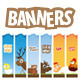 Animal web banners - GraphicRiver Item for Sale