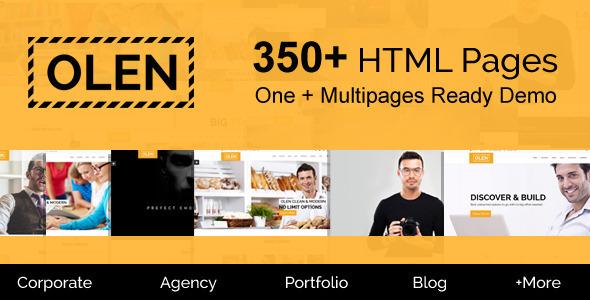 OLEN – Multipurpose Responsive Corporate HTML5 Template