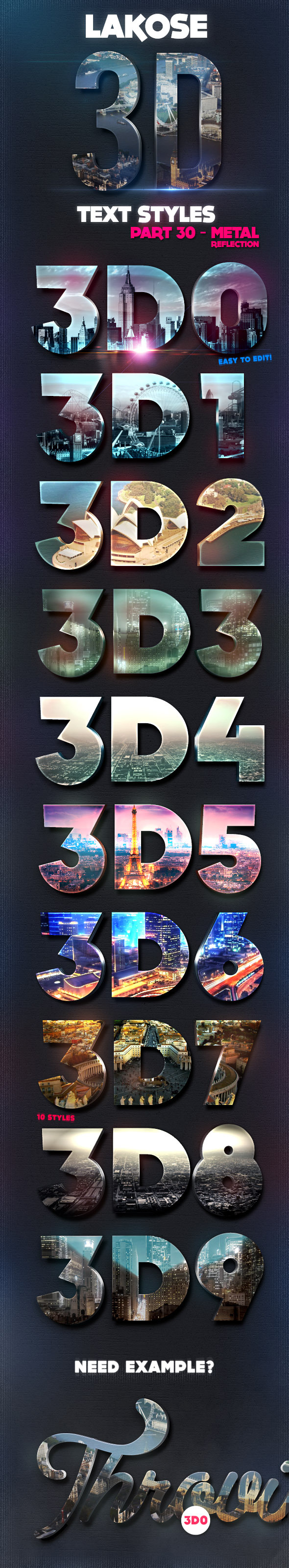 Lakose 3D Text Styles Part 30