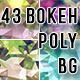 Bokeh Polygonal Backgrounds Bundle - GraphicRiver Item for Sale