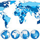 World Map with Countries and Globes - GraphicRiver Item for Sale