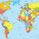 World Map with Countries and Names - GraphicRiver Item for Sale