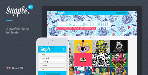 Supple - motyw portfolio dla Tumblr