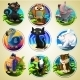 Set Of Differend Cartoon Animals - GraphicRiver Item for Sale
