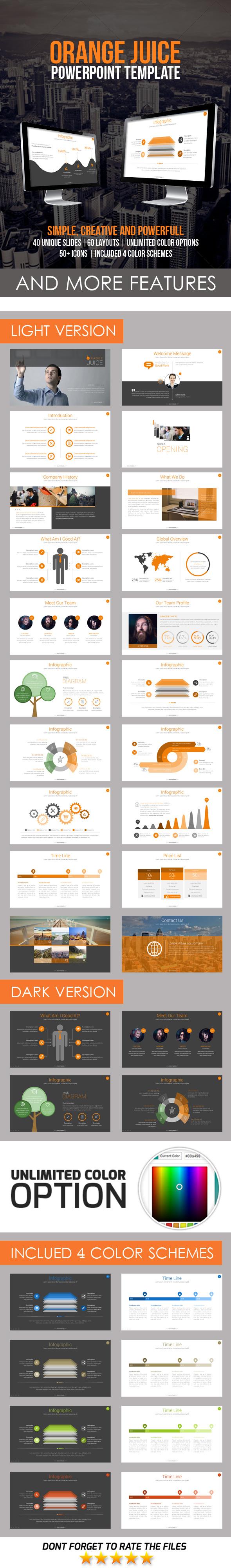 Orange Juice PowerPoint Template