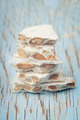 Hard white nougat with whole almonds and honey covered with wafe - PhotoDune Item for Sale