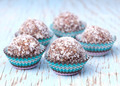 Handmade coconut snow balls made from moroccan dates, almond and - PhotoDune Item for Sale