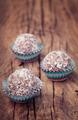 Handmade healthy moroccan sweet balls on old wood - PhotoDune Item for Sale