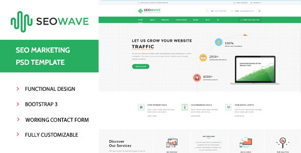 Seo Wave - Marketing HTML Template