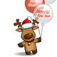 Christmas Elks Balloons - GraphicRiver Item for Sale