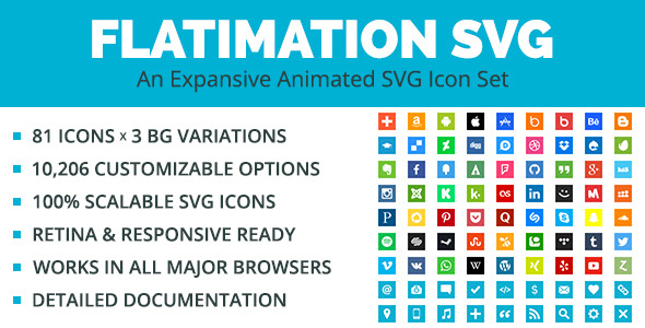 Flatimation SVG - An Animated SVG Icon Set