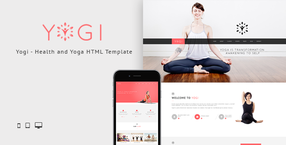 Yogi - Health Beauty & Yoga HTML Template