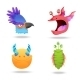 Set of Monsters Heads - GraphicRiver Item for Sale