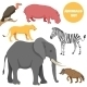 African Animals Set for Kids In Cartoon Style - GraphicRiver Item for Sale