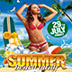Summer Beach Party (Flyer Template 4x6) - GraphicRiver Item for Sale