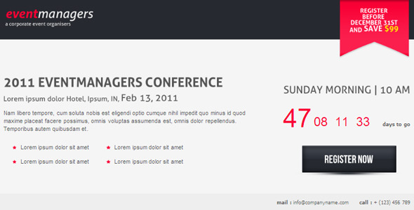 Eventmanagers Event Landing Page