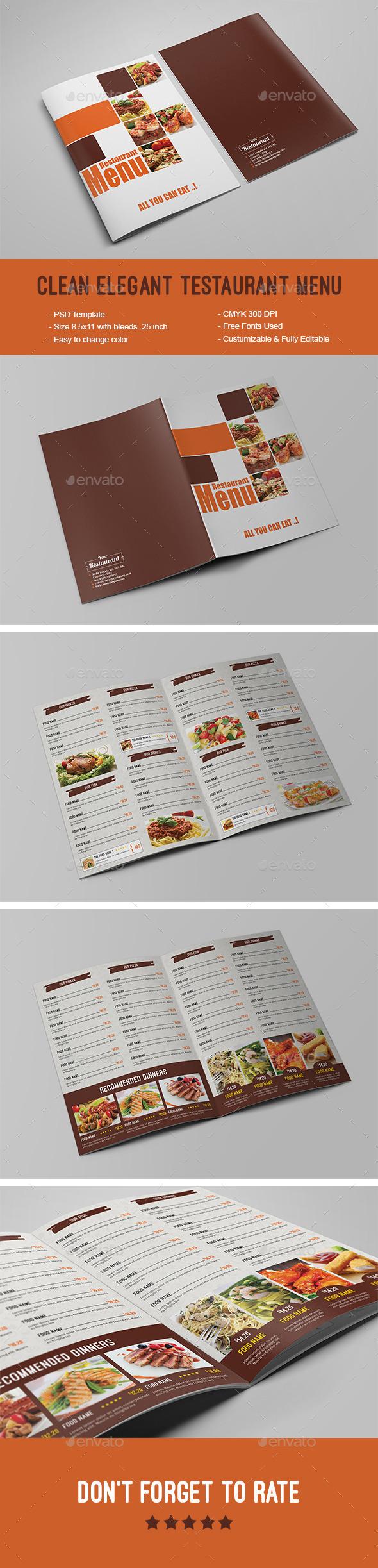 Restaurant Menu Design Graphics Designs Templates