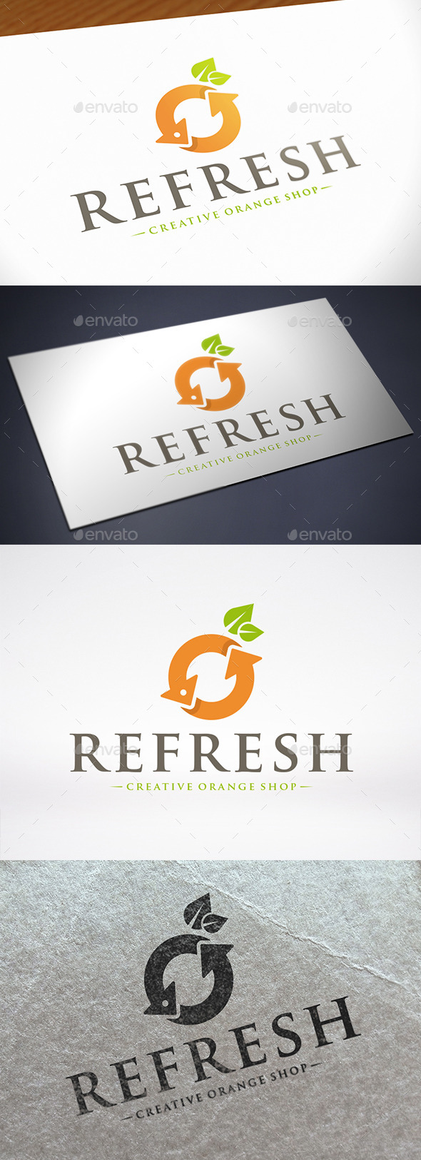 Refresh Orange Logo Template