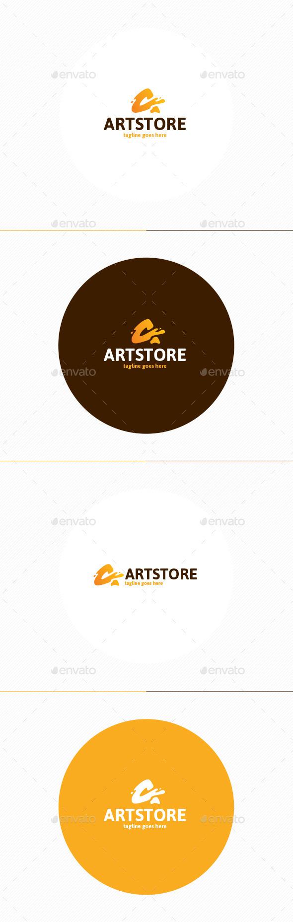 Art Store Logo • Letter A