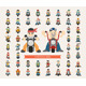 Set of Men Riding a Motorcycle - GraphicRiver Item for Sale