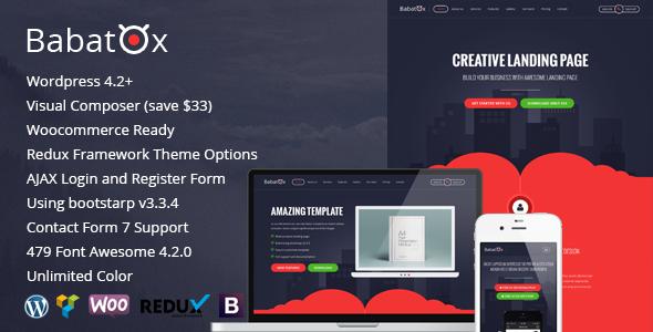 Babatox - Responsive Landing Page WordPress Theme