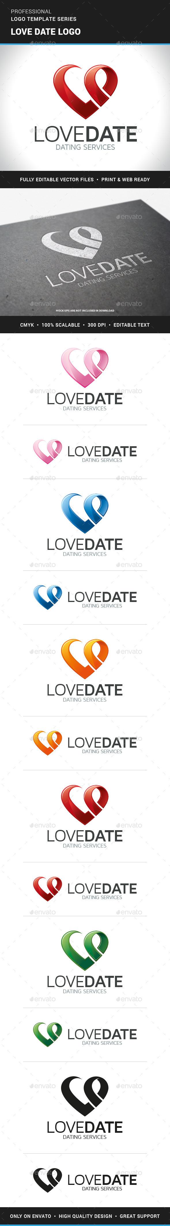 Love Date Logo Template