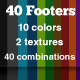 40 Website Footers - GraphicRiver Item for Sale