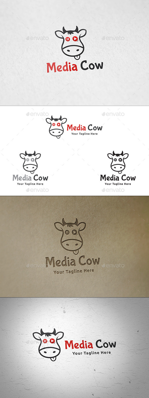 Media Cow - Logo Template