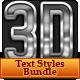 Premium 3D Text Styles Bundle - GraphicRiver Item for Sale