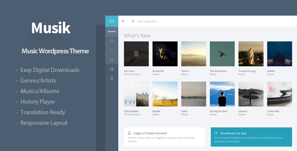 Musik - Responsive Music WordPress Theme