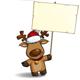 Christmas Elks - Placard - GraphicRiver Item for Sale