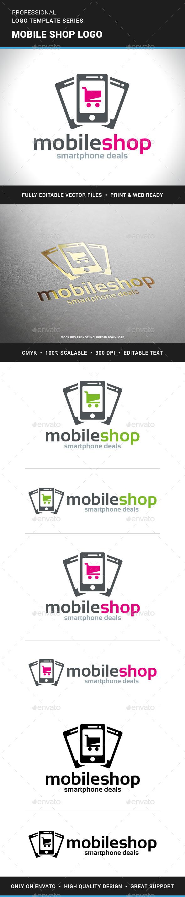 Mobile Shop Logo Template