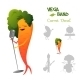 Carrot Character Singing a Song - GraphicRiver Item for Sale