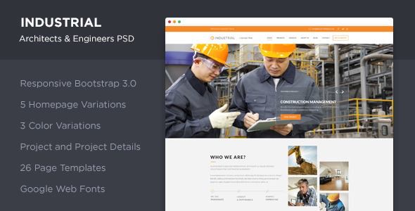 Industrial - Architects & Engineers PSD