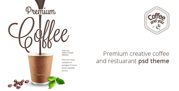 Coffee and You | Cafe and Restaurant PSD Template