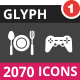 2070 Vector Inverted Glyph Icons
