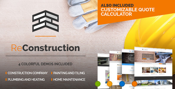 ReConstruction - Contractor & Building Theme