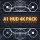 A1 HUD PACK/ Digital Interface Placeholders/ Sci-fi UI Technology/ Futuristic Iron Man Movie Screens